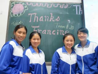 Chinese students from my volunteer online teaching