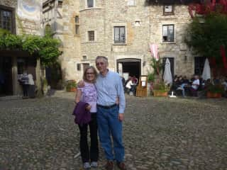 Linda and Claude - on our travels