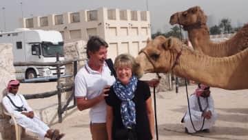 Lesley & John in Doha
