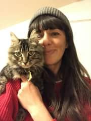 My housemate's kittie, Sonya. I love her so much!