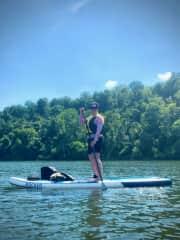 paddleboarding at East Fork State Park