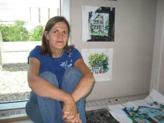 In my painting studio at the University of Regina, summer artist residency 2009