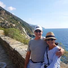 John and Katina in Liguria, Italy, October 2017