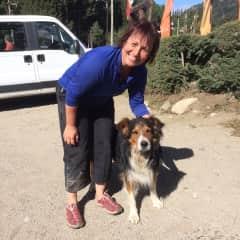 Birgit with a new friend