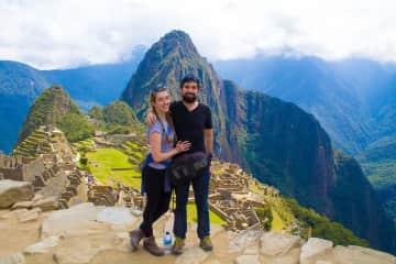 Alfie and I visiting Machu Picchu