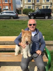 Frank with Pipin during our Norfolk sit!