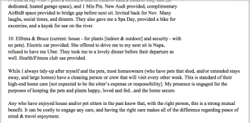 References List (beyond TrustedHousesitters.com) P. 5 of 5