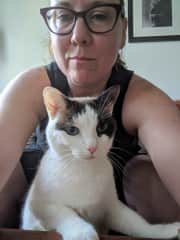 With my cat Little Hans