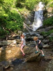 Our favorite activity -hiking to a waterfall