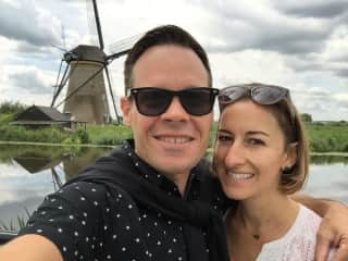 Getting photobombed by a windmill in Holland
