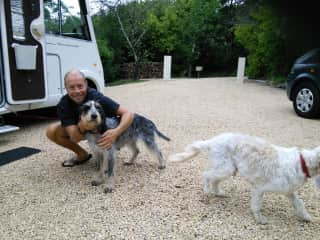 Chris with Carla and Rusty