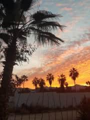 Sunrise from backyard