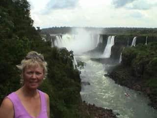 Denise at Iguassu falls Brazil