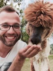 Manuel + Paddy the Alpaca