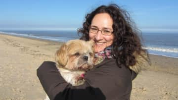 With Molly in Caister, UK