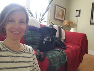 Me and Ringo, dog sitting