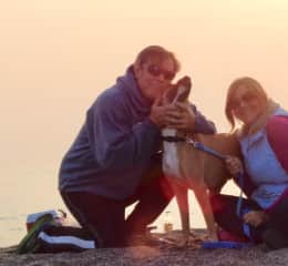 My husband Patrick, Jackson and myself at Bodega Beach