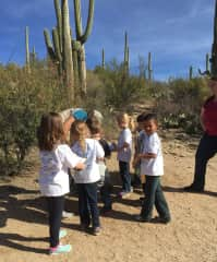 A group of school children in a session I work on to teach the natural history of the area (the little ones learn more about safety and simple identification).