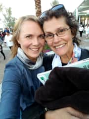 Asia Voight and Mary Lelle (At the BNP Paribas Tennis Open, 2018)