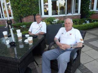this was me and a mate at The Belfry for a golf game