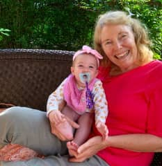 Sweetie pie granddaughter and myself.