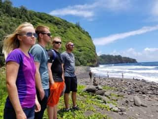 My family hiking on the Big Island.