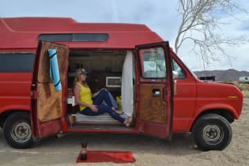 Two years ago, I bought a partially converted camper van and spent the summer finishing the kitchen, bedroom area and some of the mechanical work (I recruited some friends for that last part).