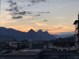 Balcony Sunset