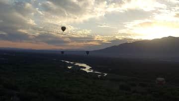 Ken and me balloon ride (bucket list) in  Albuquerque 2018