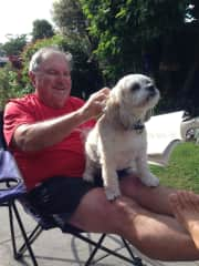 Gerry with Tammy in Christchurch, NZ