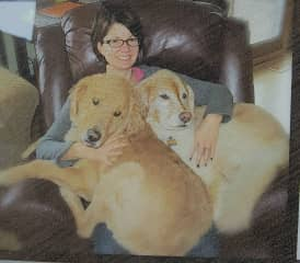 My favorite picture of me and my loves, Chance and Goldie