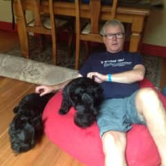 Ken with our Archie and Bess