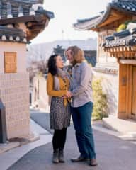 Eric and Grace at a traditional Korean village in 2018.