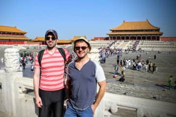 Jack and Adam in the Forbidden City