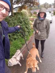 Time for a walk with Coco and Lennie, Coquitlam, Canada