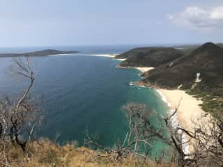 Looking towards Fingal Bay from Tomaree head