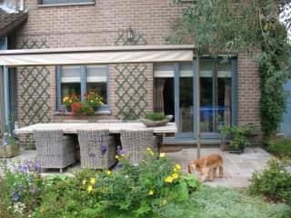 Our lovely garden terrace.