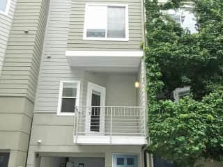 The townhouse is four levels.