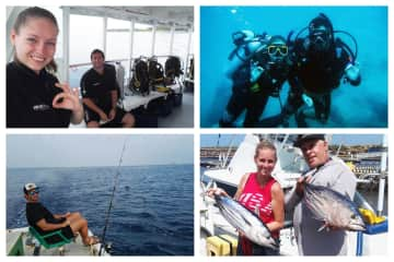 Our hobbies: Scuba diving and Fishing