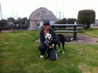 Marley and I in Morro Bay!