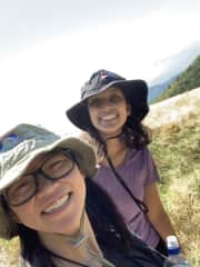 Hiking with my friend for her birthday!