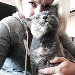 Me and BLU kitten