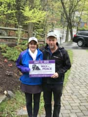 Lisa and Bryan participating in a fund raiser for an incredibly special organization, the Louis D. Brown Peace Institute