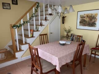 Dining room and stairs to the second floor