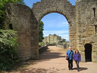 Travel - yes please. Exploring a castle in Scotland