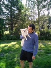 Hanging out with Snowie