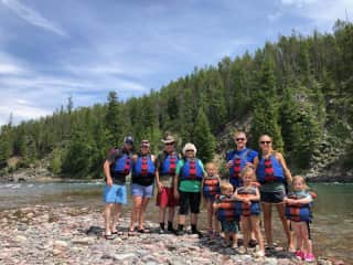 Whitewater rafting in North Carolina with our family.