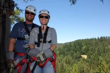 Mike & Susan, ziplining