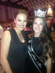 I have directed, coached, and judged queen pageants for over 26 years.  This is my daughter with Katie Stam Irk, Indiana's first & only Miss America.