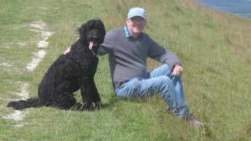 Nelson, the gentle giant, lives in Brighton and we all loved walking the South Downs Way.